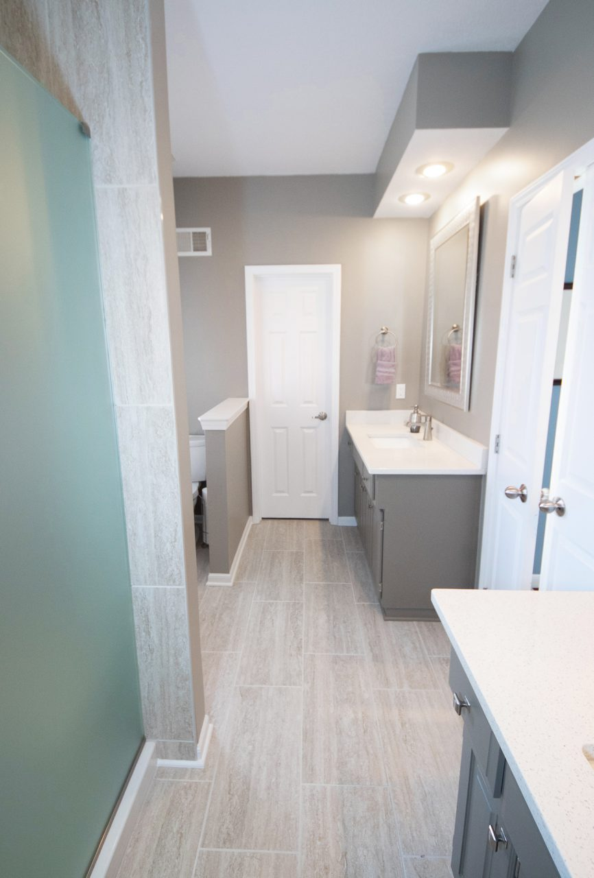 Cathy Swan Master Bath by Bryan Casey Construction