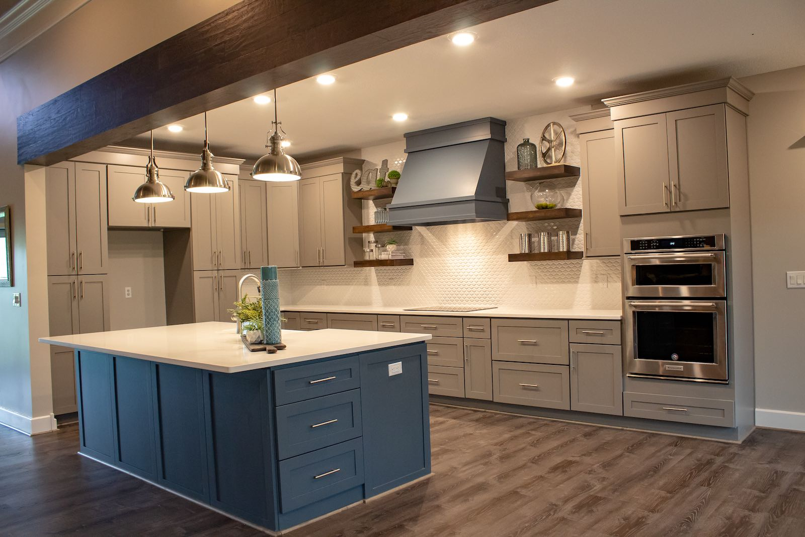 Kitchen island and Full Kitchen Remodel by Bryan Casey Construction