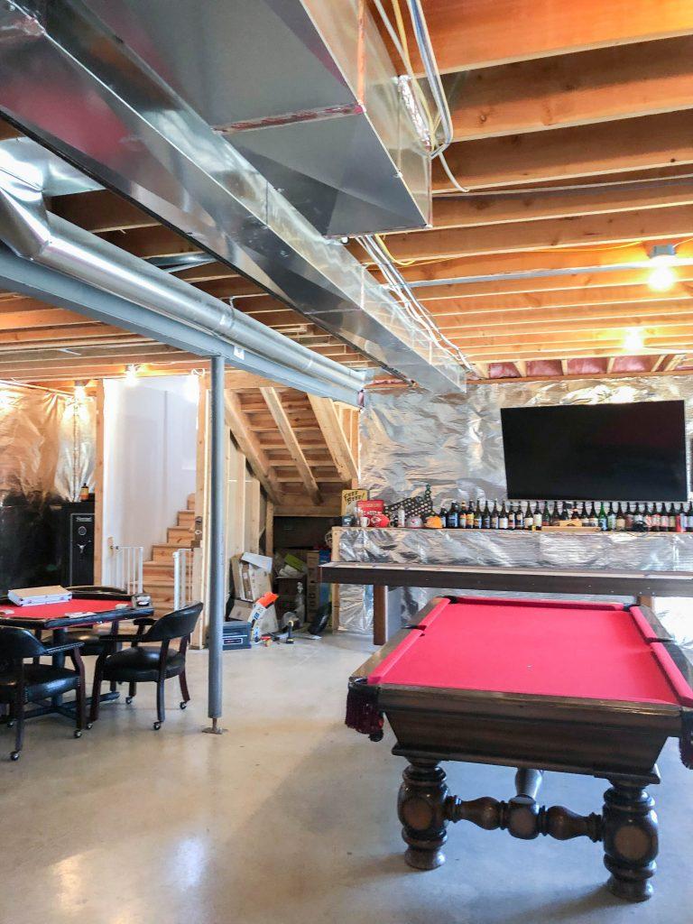 Basement Renovation Before – Bryan Casey Construction