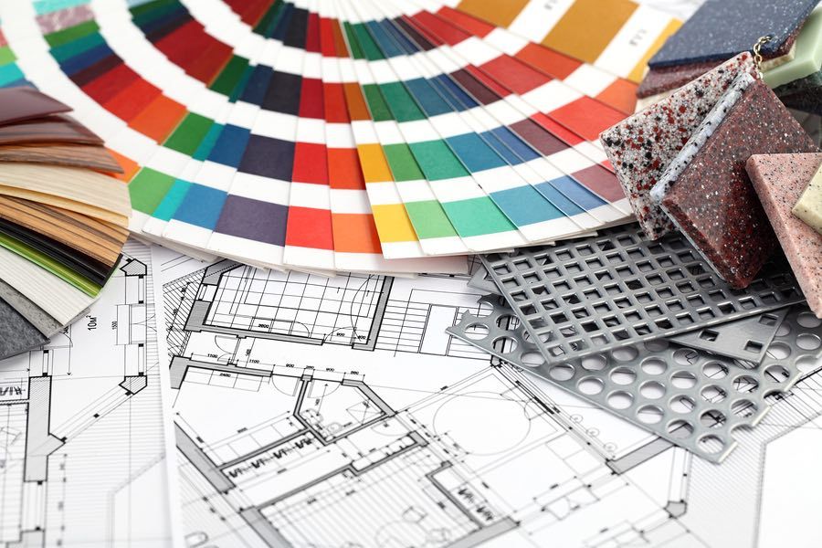 palette of colors designs for interior work